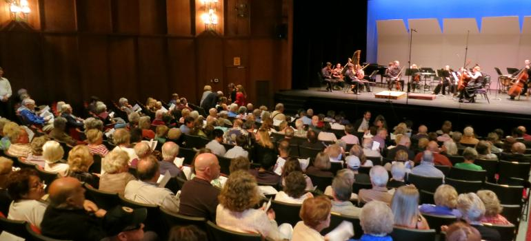 The intimate theater of the Lake Placid Center for the Arts